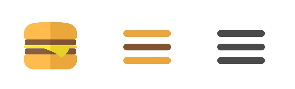 menu hamburguesa en diseño web